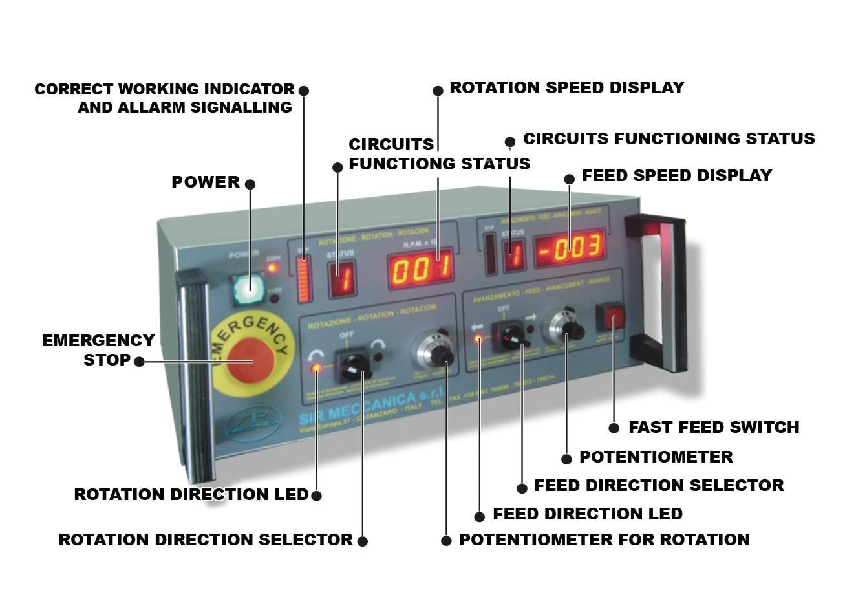 Sir Meccanica Ws3 Assurich Rotative Speed Regulator Borer Driller Controller