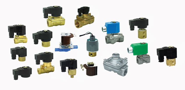 Solenoid Valves for Air Gas and Water